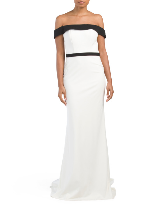 Off The Shoulder Jersey Gown