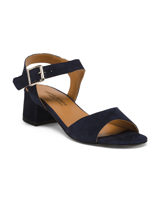 Made In Italy Band Suede Sandals