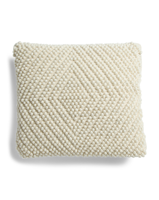 20x20 Knotted Wool Pillow