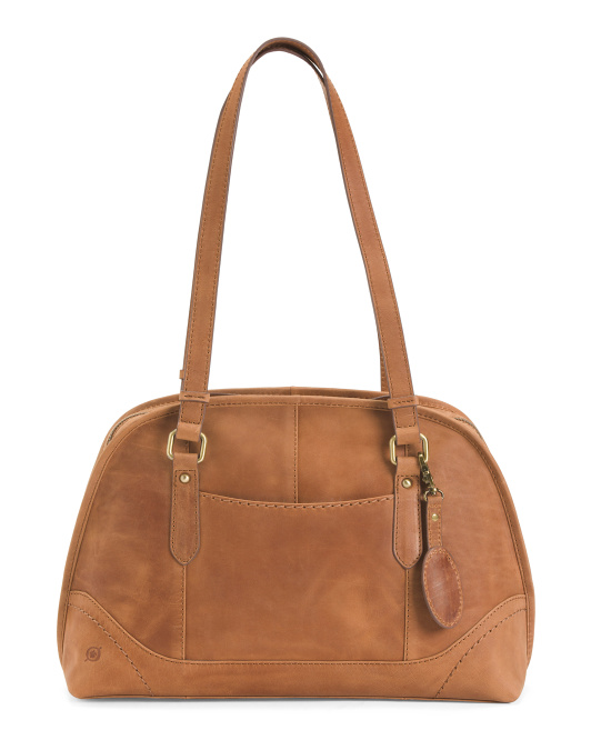 Glendale Distressed Leather Satchel