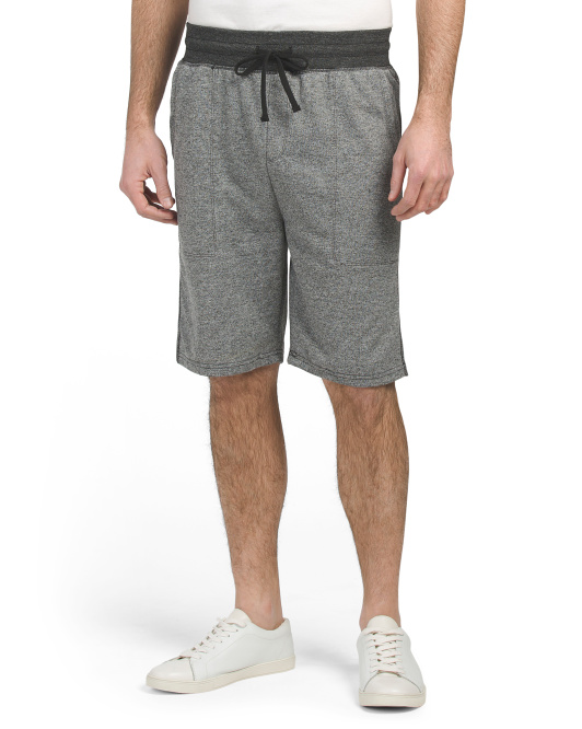 Marled French Terry Jogger Shorts