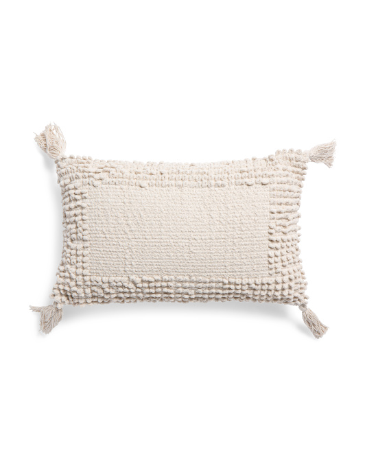 Made In India 12x20 Chenille Pillow