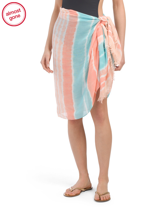 Striped Wrap Cover-up