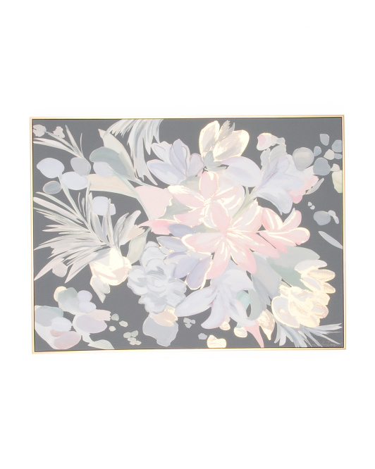 30x40 Soft Floral Canvas Wall Art