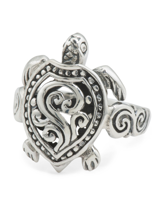 Recycled Sterling Silver Turtle Ring