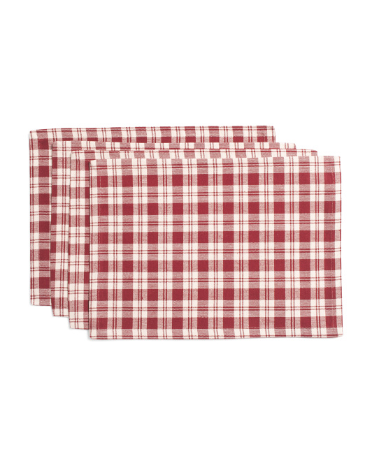 Made In India 4pc Plaid Placemats