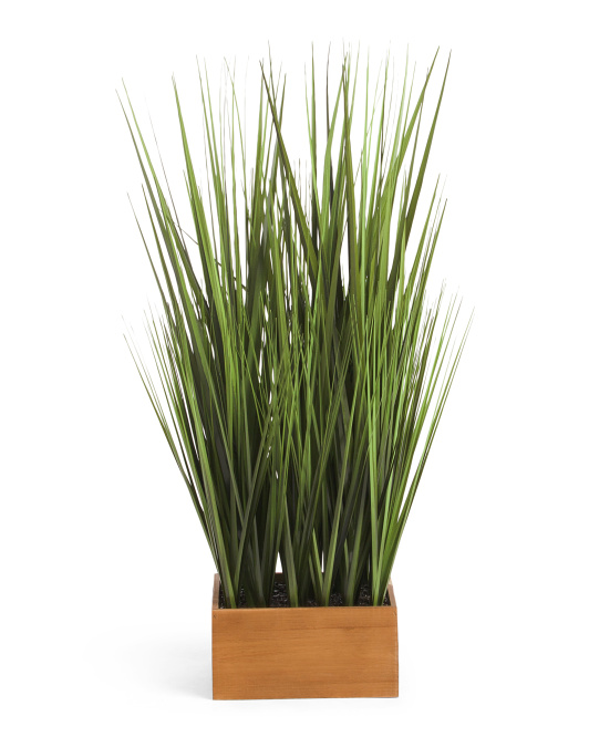 34in Faux Grass Plant