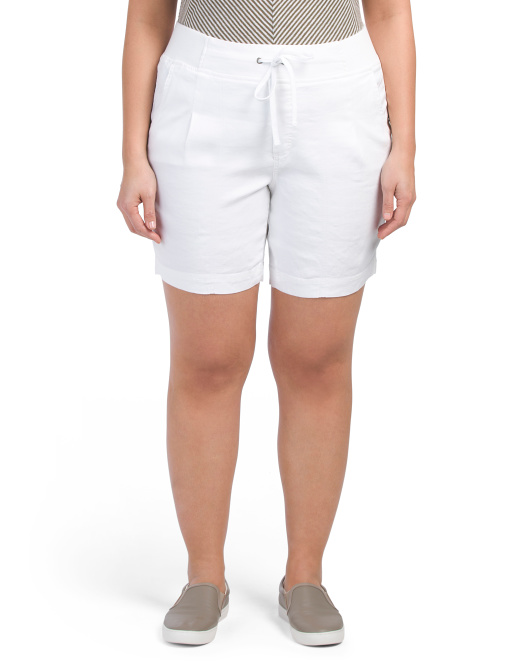 Plus Candice Linen Shorts
