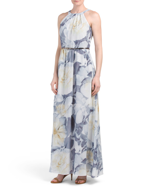 Chiffon Floral Maxi Dress