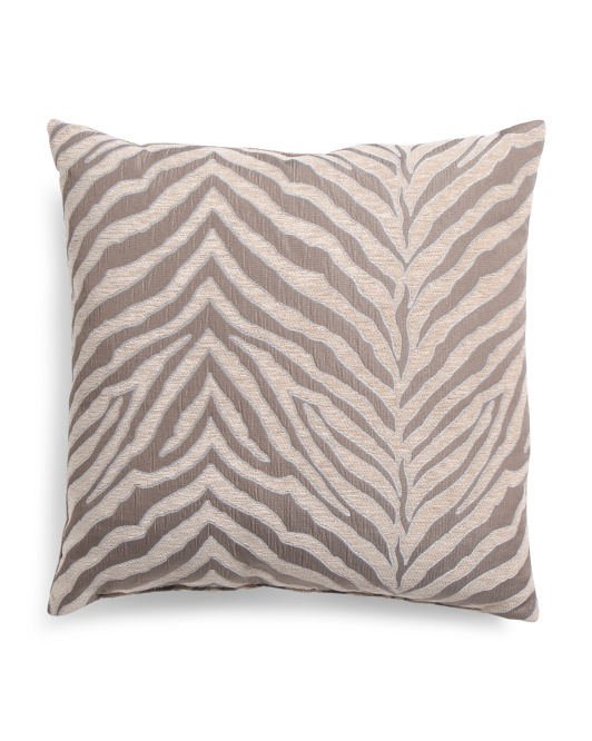 22x22 Animal Printed Chenille Pillow