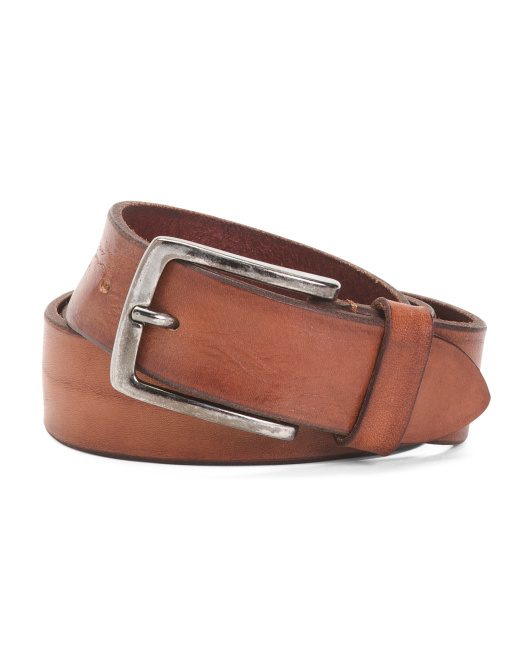 Men's Made In Italy Leather Belt