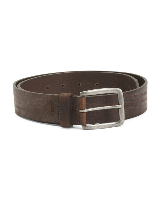 Made In Italy Distressed Leather Belt