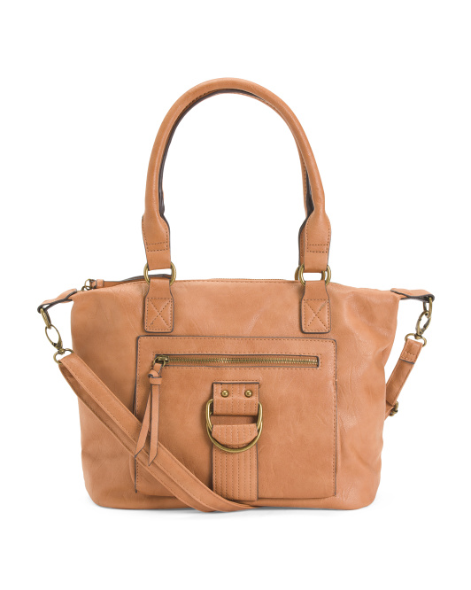 Ring Front Satchel