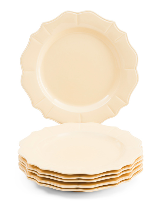 Made In Portugal Set Of 6 Scalloped Dinner Plates