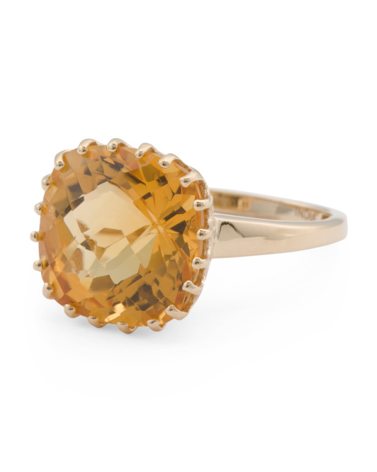 Made In India 14k Gold Citrine Ring