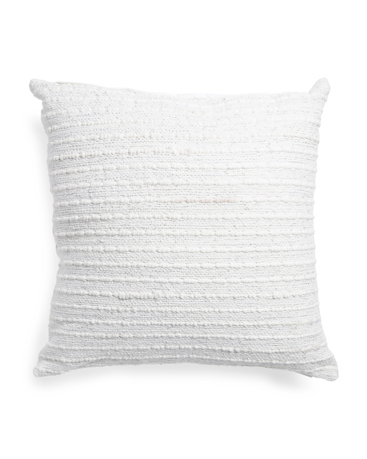 Made In India 26x26 Textured Metallic Pillow