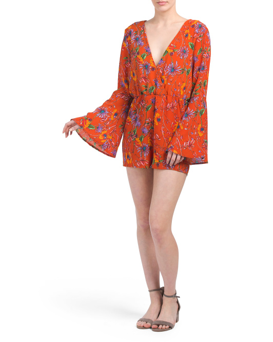 Carly Floral Long Sleeve Romper