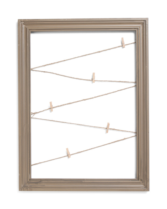 18x24 Zig Zag Rope Photo Display