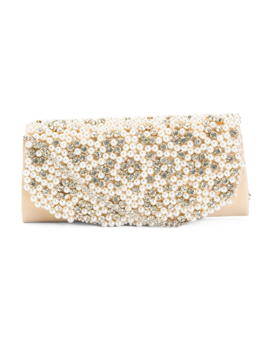 Pearl And Stone Clutch