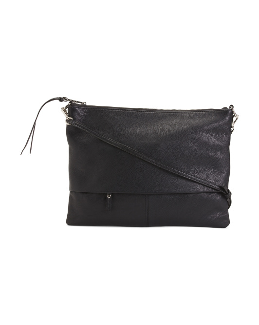 Pebbled Leather Crossbody