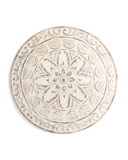 28in Metal Wall Medallion Decor