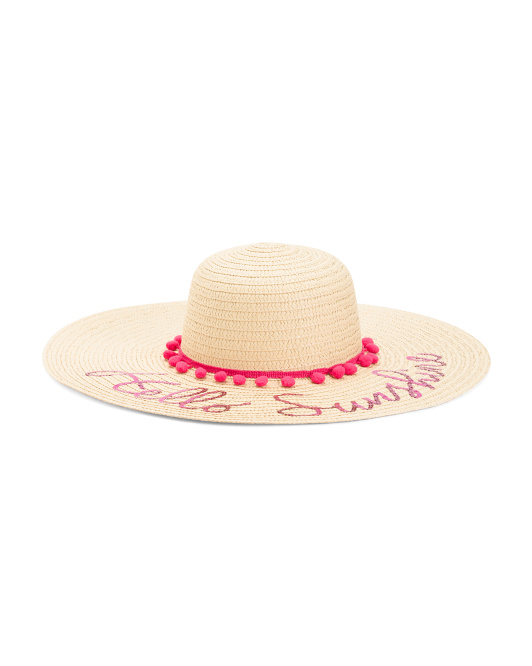 Sequin Verbiage Sun Hat