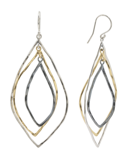 Made In Israel 14k Gold Plated Sterling Silver Earrings