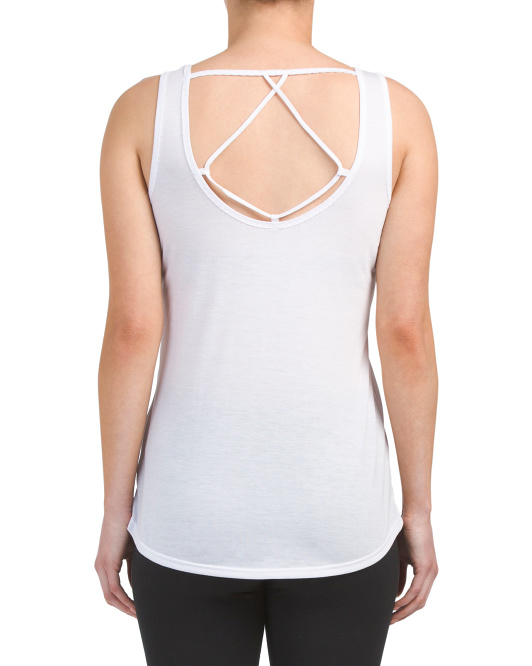 Open Back Braided Edge Tank