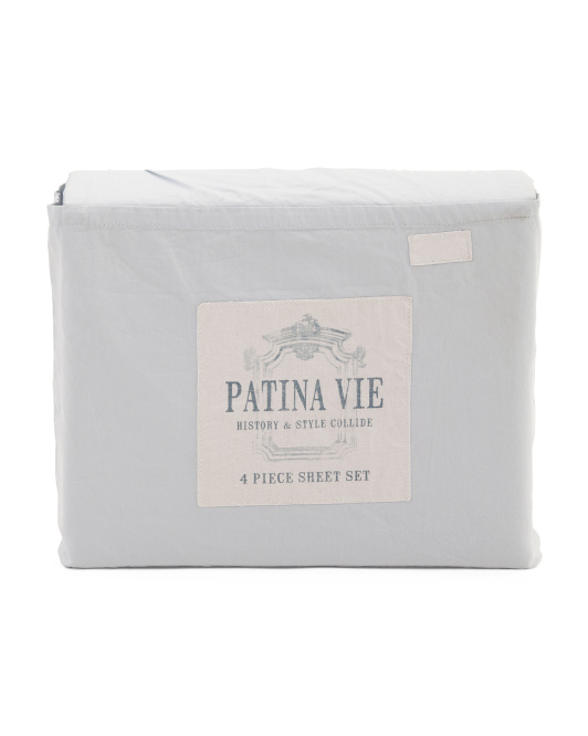 4pc Luxe Cotton Sheet Set