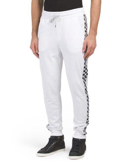 Checkered Stripe French Terry Joggers