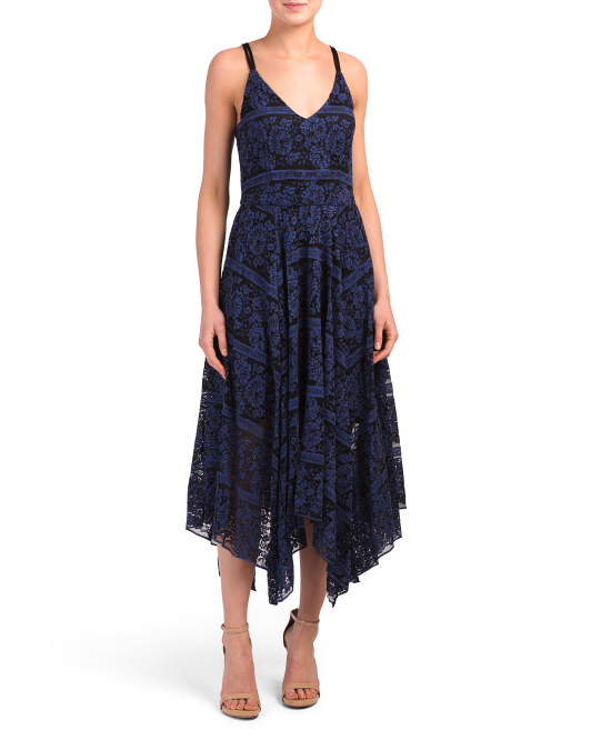 Juniors Lace Midi Dress