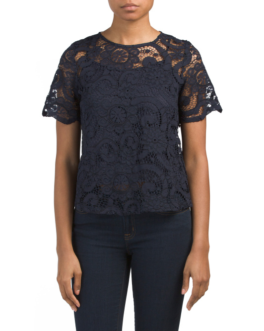 Lace Tie Back Top