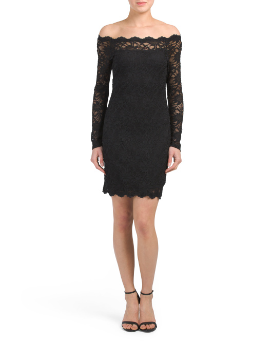 Juniors Made In USA Scallop Lace Dress