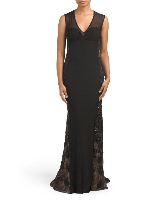 Sheer Illusion Long Gown