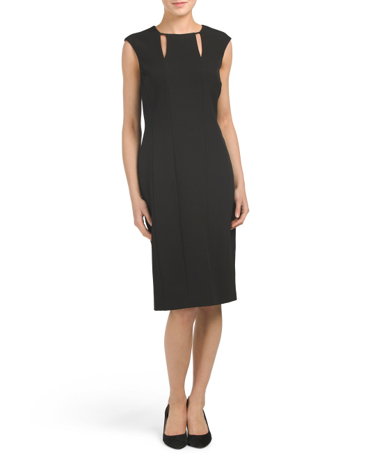 Keyhole Cut Out Sheath Dress