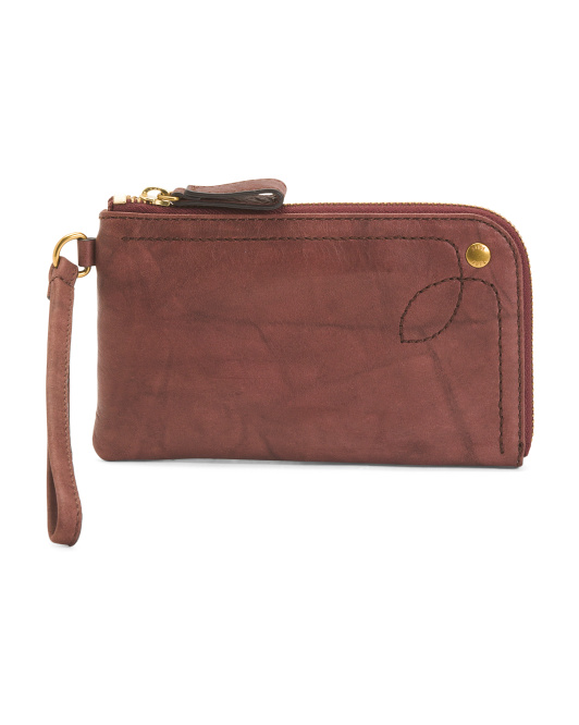 Campus Rivet Leather Wallet