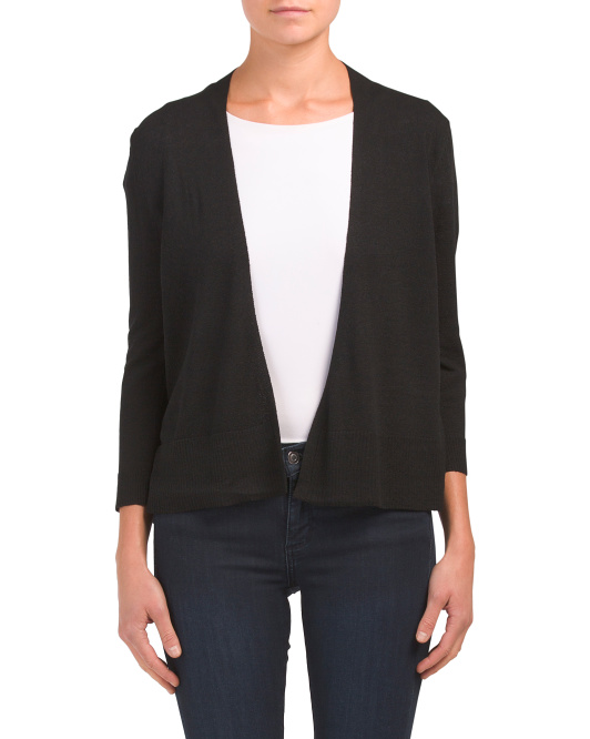 Three-quarter Sleeve Cover-up Cardigan