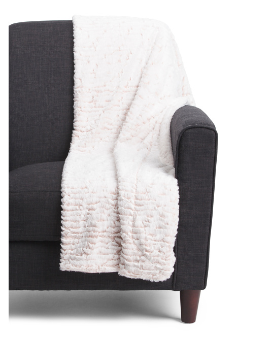 Brushed Faux Fur Throw