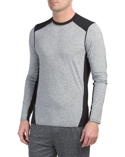 Stretch Crew Neck Wool Top