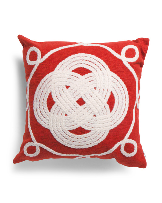 20x20 Indoor Outdoor Ornamental Knot Pillow