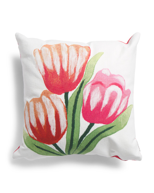 20x20 Indoor Outdoor Tulips Pillow