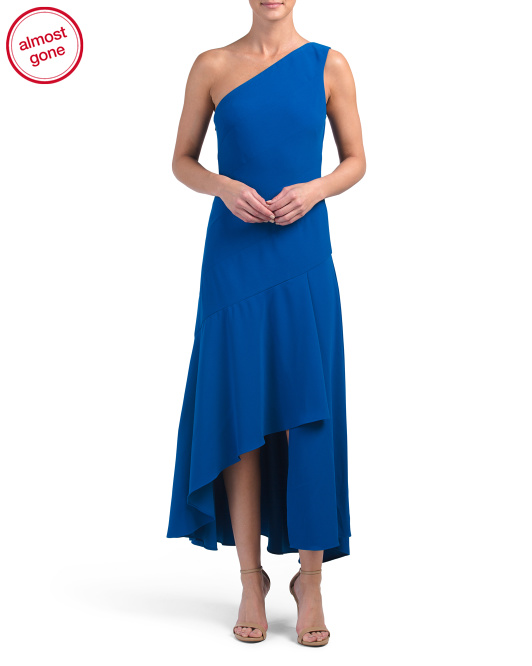 One Shoulder Asymmetrical Gown