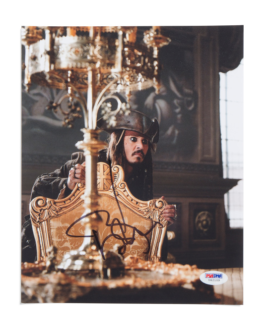Johnny Depp Signed Pirates Of The Caribbean Photo
