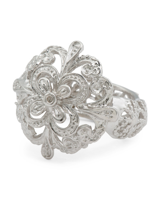 Made In Italy Sterling Silver Filigree Ring