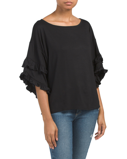 Made In USA Ruffle Blouse
