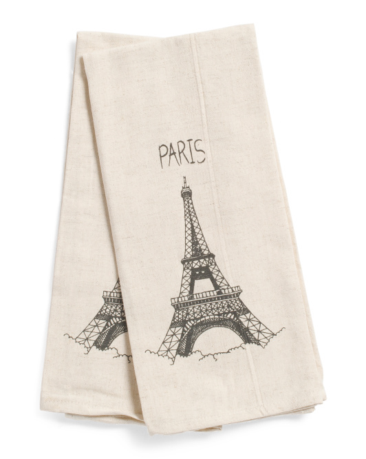 Made In India 18x28 2pk Eiffel Tower Kitchen Towels