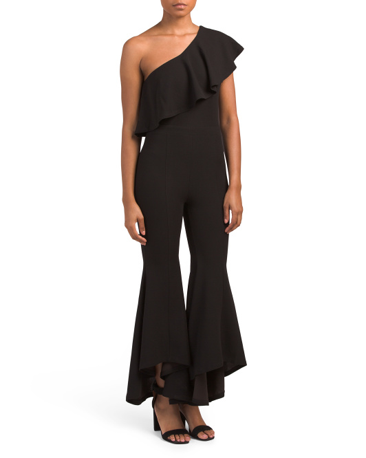 Juniors One Shoulder Jumpsuit