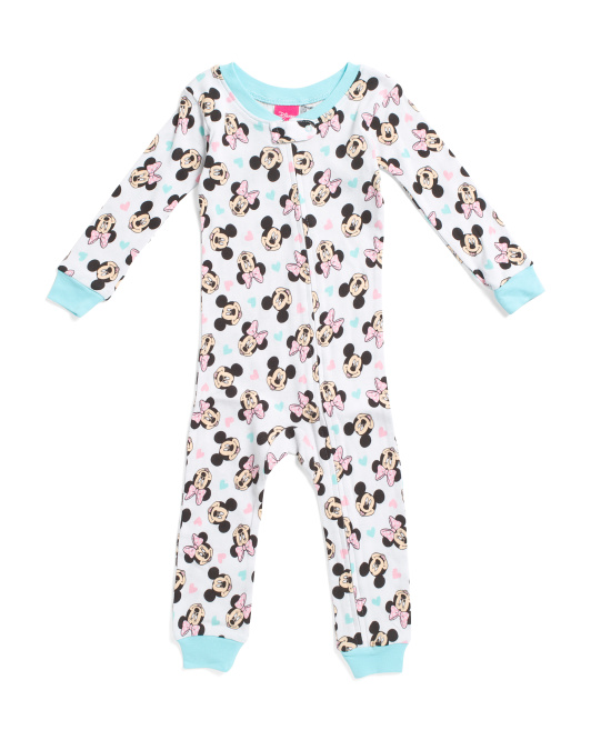 Infant Girls Minnie Mouse Footless Sleep N Play