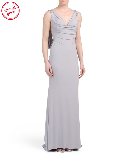 Long Draped Gown