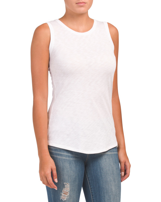 Shirt Tail Pima Cotton Tank
